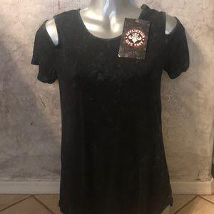 Affliction open shoulder t-shirt